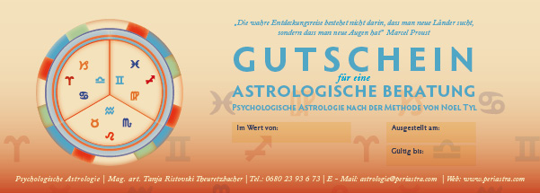 Gift Voucher for astrological consultation Vienna